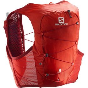 Salomon Active Skin 8 Zestaw z plecakiem, valiant poppy/red dahlia